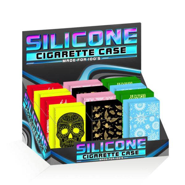 Silicone Cigarette Case 100mm Printed Design