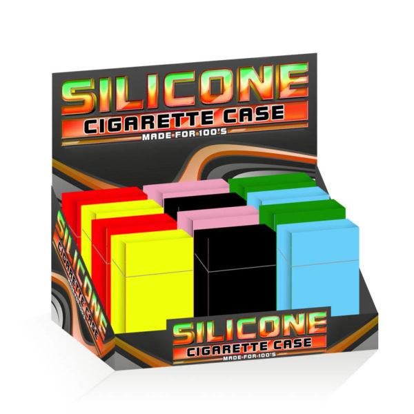 Silicone Cigarette Case 100mm Plain Design