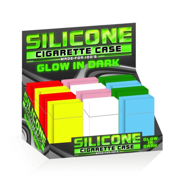 Silicone Cigarette Case 100mm Glow in Dark Design